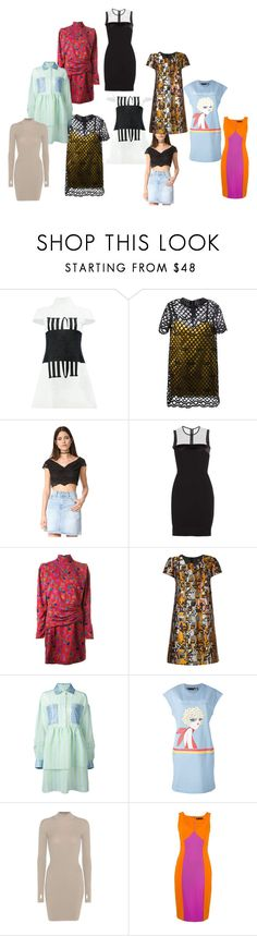 """amazing offer"" by denisee-denisee ❤ liked on Polyvore featuring Anrealage, Marc Jacobs, Free People, Victoria Beckham, Emanuel Ungaro, Paule Ka, Natasha Zinko, Love Moschino, adidas Originals and Versace"