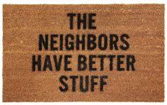 :) funny welcome mat