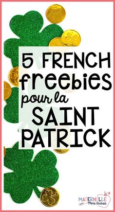 Find 5 French freebies that will be perfect for celebrating Saint Patrick's Day in your French primary classroom Kindness Activities, Primary Activities, Primary Teaching, Primary Classroom, Kindergarten Activities, French Classroom, Teaching Ideas, Spring Activities, Holiday Activities