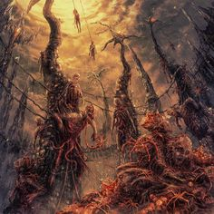 The art of horror. If it is scary, it is welcome here. Fantasy Concept Art, Dark Fantasy Art, Monster Art, Arte Horror, Horror Art, Lovecraftian Horror, Eldritch Horror, Horror Themes, Satanic Art