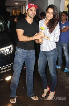 Varun Dhawan and Shraddha Kapoor at screening of ABCD 2. #Bollywood #Fashion #Style #Beauty #Handsome #ABCD2