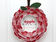 Apple Wreath from kiki and company.