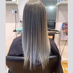 Ash blonde ombré Grey ombré Hair with grace