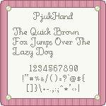 PjukHand Pixel Font by pjuk on deviantART