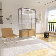 Γυάλινη Βιτρίνα Καταστήματος με συρόμενες πόρτες και αποθηκευτικό χώρο Divider, Room, Furniture, Home Decor, Cabinets, Bedroom, Decoration Home, Room Decor, Rooms