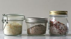Three ways to flavor salt