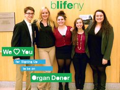 The Board of bLifeUR (University of Rochester) loves you for signing up to be an organ donor. Young people understand donation. Teach your parents well!
