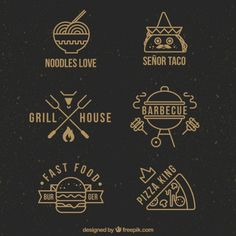 Discover the best free resources of Grill Logo Logo Restaurant, Italian Restaurant Logos, Small Restaurant Design, Classic Restaurant, Pizza Logo, Grill Logo, Mexican Food Restaurants, Food Menu Design, Abstract Logo