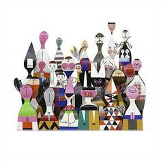 Crazy Collectables - Vitra Wooden Dolls by Alexander Girard.