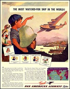 Am airplanes pan vintage