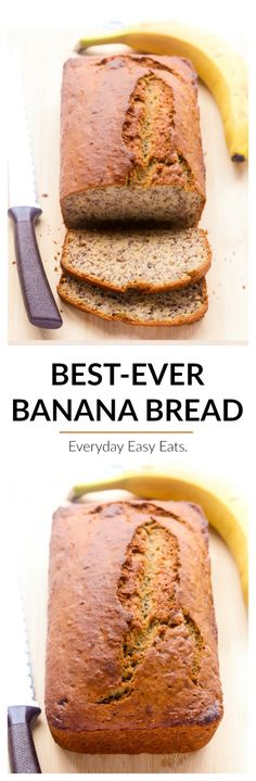 The only banana bread recipe you will ever need. Perfectly moist, bursting with banana flavor and blissfully simple to make. No electric mixer needed!