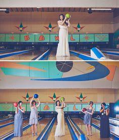 Bridesmaids at the Lanes