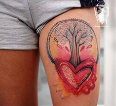 Bumpkin Tattoo Studio, a Great Place to Get Colorful, Cartoonish Tattoos - KickAss Things Sister Tattoos, Girl Tattoos, 30th Birthday Presents, Nature Tattoos, Abstract Styles, Love, Tattoo Studio, Great Places, I Tattoo