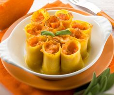 Paccheri alla crema di zucca! Ecco 6 ricette italiane per Halloween #Cucina #Ricetta