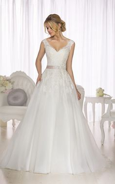 Can try on at Ana's Bridal Wedding Dress - Essense of Australia A Line Wedding Dress - STYLE D1662