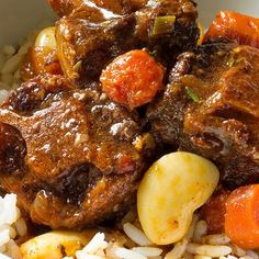 Slow Cooker Oxtail Stew slow cooker oxtail stew recipe The post Slow Cooker Oxtail Stew & Recipes appeared first on Oxtail recipes . Crock Pot Recipes, Oxtail Recipes Crockpot, Bean Recipes, Slow Cooker Recipes, Cooking Recipes, Ox Tail Slow Cooker Recipe, Recipe For Oxtails, Curry Recipes, Jamaican Dishes