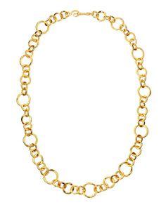 "Stephanie Kantis CORONATION 24K GOLD PLATE LARGE NECKLACE 36"" L #Jewelry"