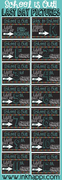 Last Day of School Photo Prop Signs... Free Printables! - inkhappi