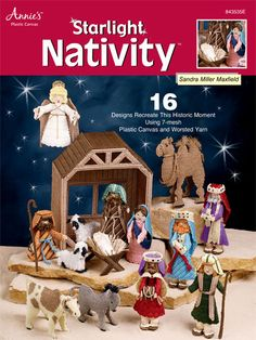 Starlight Nativity Plastic Canvas Pattern Download from e-PatternsCentral.com -- Stitch a nativity scene that can be used year after year.