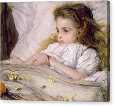 Convalescent Canvas Print by Frank Holl