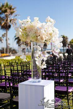 Hyatt Regency Huntington Beach Resort Wedding (Maurice + Sheila) #nozza #altar #chiavari #purple