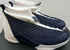 9c5773f4467059 2017 Nike Air Jordan 15 XV Retro Obsidian White Navy Blue 881429-400 Size  10.5