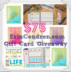 Enter to #win a $75 Erincondren.com Gift Card - http://chant3llo.com/75-erin-condren-gift-card-giveaway-life-planner-review/