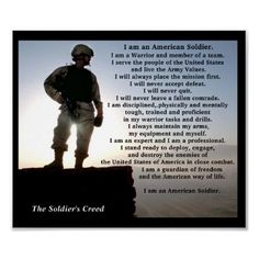 Shop The Soldiers Creed Military Warrior Ethos Poster created by cowboyannie. Soldier Poem, Soldier Quotes, Army Quotes, Gun Quotes, Life Quotes, Prayer Quotes, Qoutes, Soldiers Creed, Soldiers Prayer