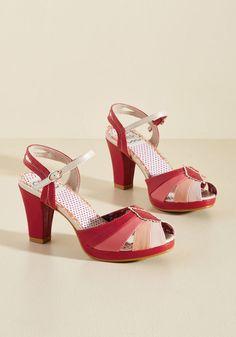 db31450420b4 Shades of Sweetness Peep Toe Heel Block Heel Shoes