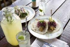 Crispy fish and carnitas tacos with rosemary margaritas at Antique Taco