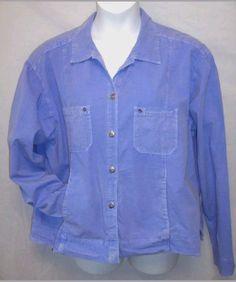 Fresh Produce Shirt Jacket 2X Periwinkle Blue XXL  #FreshProduce #ButtonDownShirt #Casual