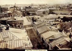 Carol Popp de Szathmary - Coltei (Colta) lane (Bratianu boulevard nowadays) in 1864 Bucharest Romania, Timeline Photos, Close Image, Bulgaria, Time Travel, Poland, Paris Skyline, Past, Street View