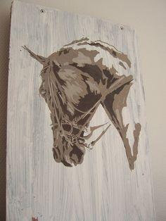 Dressage Horse's Head Equestrian reusable painting by stencilfi Horse Treats, Dressage Horses, Everyday Items, Horse Head, Equestrian, Moose Art, Sculptures, Stencil, Quilts