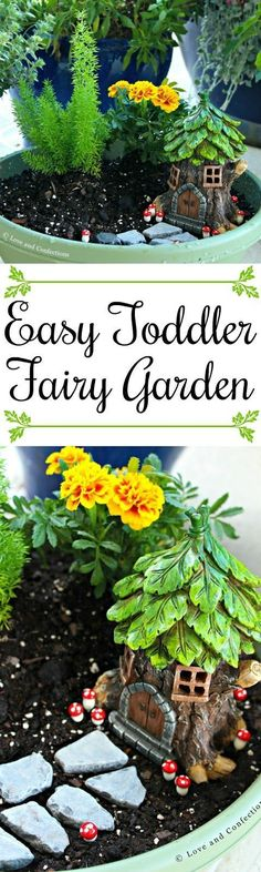 Easy Toddler Fairy Garden from LoveandConfections.com #SnackSnapShare #SnackStories #ad