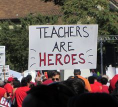 Sign at a Chicago Teachers Union rally