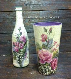 декупаж своими руками Decoupage vase ...