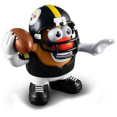 NFL Pittsburgh Steelers Mr. Potato Head Authentic NFL Item by PPW. $15.99. Please refer to SKU: PTPPIST-TOBKGA when you contact us.. Brand Name: PPW. Item availability can change quickly as item becomes popular.. Guaranteed Authentic and Licensed by the league.. Product Weight: 12 OZ. Pittsburgh Steelers - Mr. Potato Head by Sports Spuds official Licensed by NFL This officially licensed Pittsburgh Steelers Mr. Potato Head is designed for collectors and fans of all ages. Stand...