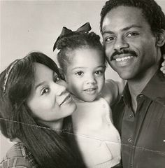 Actor Richard Lawson his first wife, Actress Denise Gordy & their daughter - Actress Bianca Lawson