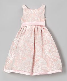 Look what I found on #zulily! Pink & Gold Floral A-Line Dress - Girls by L'etoile #zulilyfinds