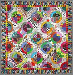 Polka Dot Quilt by Freddy Moran. I've seen this quilt in person, and it inspired me to start collecting dots! I need a polka dot quilt!