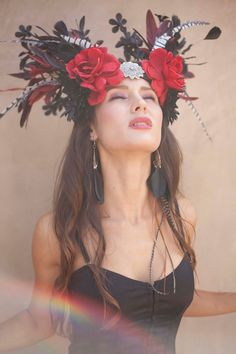 Floral Headdress.