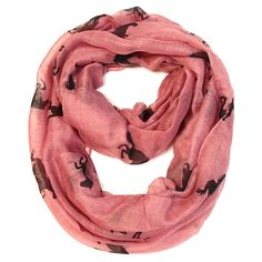 Galloping Horse Infinity Scarf - Pink