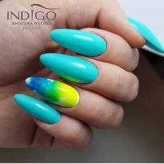Choose category or subcategory of Indigo Nails products. Acrylic Nail Art, Acrylic Nail Designs, Spring Nails, Summer Nails, Angel Nails, Nailart, Finger, Indigo Nails, Sparkly Nails