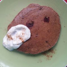 Breakfast blueberry smoothie pancakes