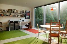Şık bir ev ofis tasarım örneği