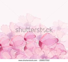 Watercolor poppies background - stock photo