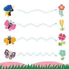 Worksheet vector design for kid Kindergarten Math Worksheets, Preschool Learning, Teaching Kids, Animal Worksheets, Tracing Worksheets, Education Banner, Kids Education, Kids Vector, Pre Writing