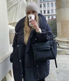 Happy Evening, Classy Winter Outfits, Fashion Backpack, Winter Jackets, Vogue, Womens Fashion, Style, Winter Coats, Swag