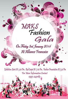 Maks Fashion Gala is on its way, Just 2 days left for the Launch of Maksfashion.com.  The Exhibition & Fashion Presentation included a ramp walk by the top models.  The wardrobes displayed for sale on very low prices which is easily affordable for every one attending the event.  Exhibition : 03:00 PM Red Carpet : 06:30 PM Fashion Presentation : 07:30 PM Venue : Alliance Francaise