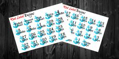 Cruise Countdown planner stickers perfect for by RedLabelDesigns